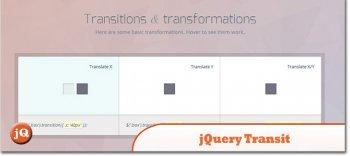 jQuery плагин jQuery Transit