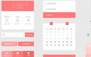 Бесплатные PSD макеты - Peach UI Kit