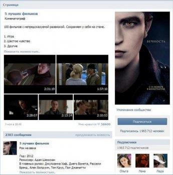 Публичные группы Вконтакте