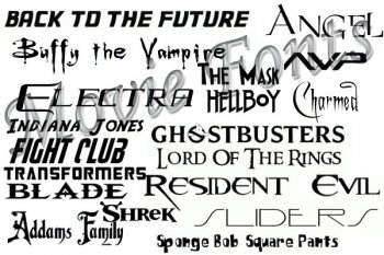 Популярные шрифты 2014