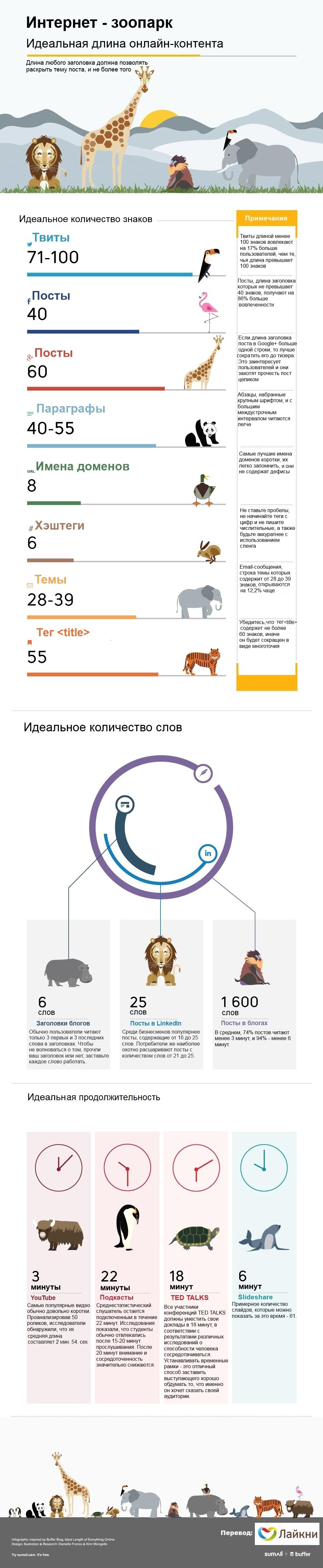 Идеальная длина инфографика