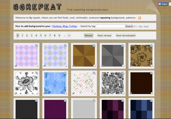 Бесшовный фон для сайта от BGREPEAT
